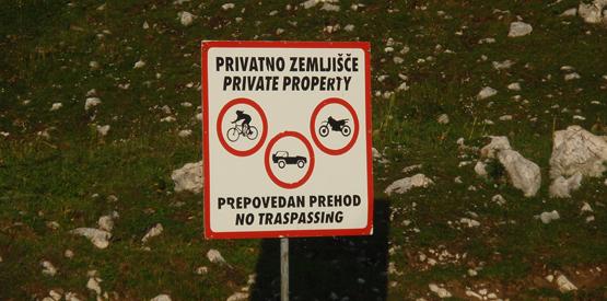 Prepovedano za kolesarje, avtomobile in motorje