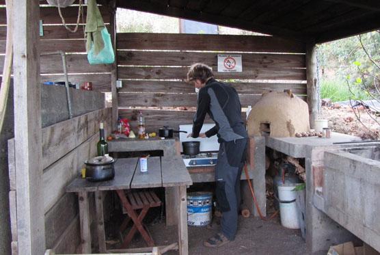 Kuhinja v kampu La Rosa