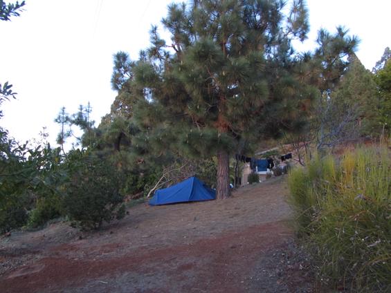 Parcela v kampu.