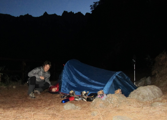 kamp caldera de-taburiente