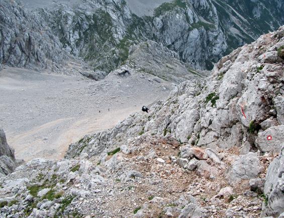 vstop v skalo za meliščem